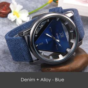 Relógio Denim Quartz Alloy - Azul- Analógico