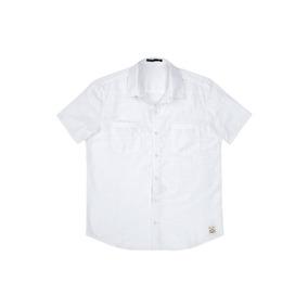0556198f972 Camisa Masculina Slim Manga Curta Hering - 324h2ga Branco