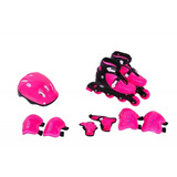 Kit Super Proteção Bel Sports Rosa - Patins e Skates no Mercado ... d3736e0e75