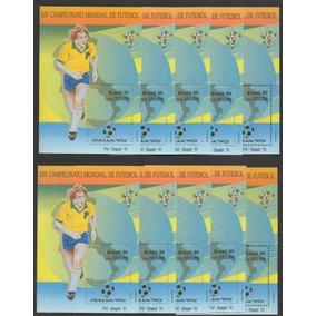 Grc181 - 10 X Bloco Brasil 1978 1992 - 50 Blocos Novos Goma