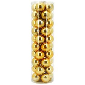 Set X 40 Bolas Navidad Perlada 7cm Dorado