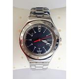 30367359048 Relógio Swatch Irony Preto C  Pulseira De Metal