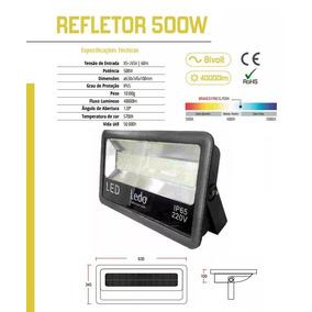Refletor Holofote Led 500w Ledo Brasil 5700k