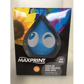 Caixa De Som Mini Gota 4w Rms Usb Maxprint Cod 60657-8