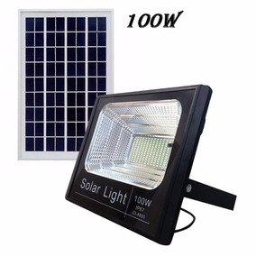 Kit 4 Refletor Lâmpada Solar De 100w Forte Iluminação Hotéis