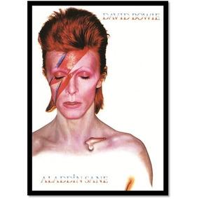 David Bowie Aladdin Sane - Poster Com Moldura Médio S/ Vidro