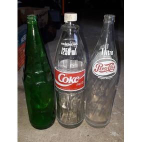 3 Garrafas Antigas De Refrigerante Coca Cola Pespsi