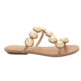 Sandalia Schutz Original Flat Balls Dourada S0109303300007