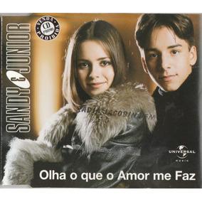 Sandy & Junior Olha O Que O Amor Me Faz Cd Single Promo Raro
