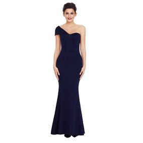 Sexy Elegante Vestido Largo Un Hombro Fiesta Noche E61774