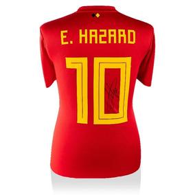 Eden Hazard Playera Firmada En La Espalda Bélgica 2018 Local