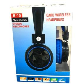 Fone Bluetooth Wireless Headphone Stereo Radio Fm Usb B-15