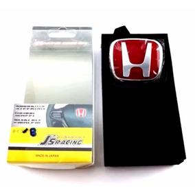 Emblema Honda Vermelho Volante New Civic Lxs Lxl Si Todos