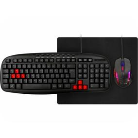 Kit Gamer Mouse 1200dpi + Teclado + Mousepad