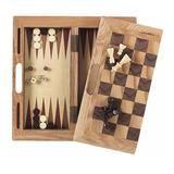 Ajedrez De Madera Alta Calidad 3 En 1 Damas Backgammon