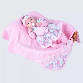 Saída De Maternidade Menina Rosa Charmosa