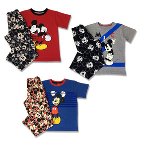 Pack De 3 Pijamas Mickey Mouse Para Niños Oficiales