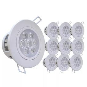 Kit 10 Spot Super Led 7w Lampada Direcionável Branco Frio