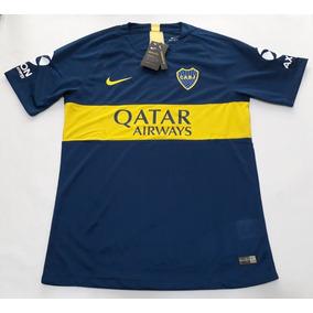 Camiseta Boca Titular Qatar 2018 2019 Nuevo Original L Y Xl.   1.499. Envío  gratis ed5adaafe81b1