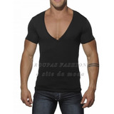 Camiseta Slim Gola V Profunda,musculação,regata,gola Redonda