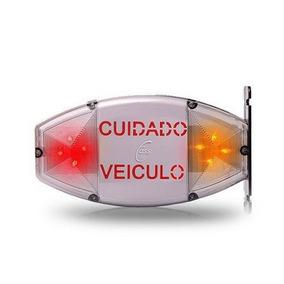 Placa Sinalizadora Led Cuidado Veículos Bip Sonoro Bivolt