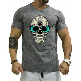 724d6a62e0 Camiseta T-shirt Masculina Camisa Caveira Treino Blusa Swag