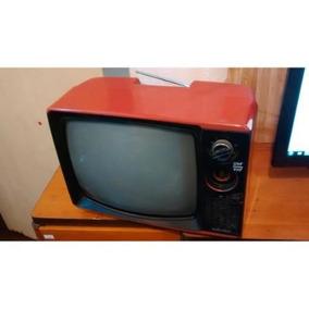 Televisão Tv Vermelha Antiga Vintage Anos 80/90