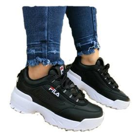 00ebc8a00813c Tenis Fila Para Mujer Negros - Zapatos para Mujer en Mercado Libre ...