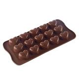 Molde Silicon Corazón Corazones Chocolate, Velas, Jabón,