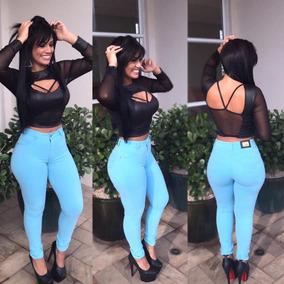 Roupas Femininas Calça Jeans Cintura Alta Flare E Skinny