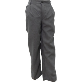 Pantalón Escolar Con Resorte Polilana Gris Oxford 4 A 16