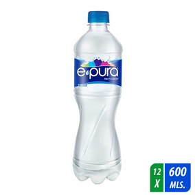 Agua Epura 12 Botellas De 600 Ml C/u
