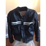 Jacket De Cuero Para Motocicleta Talla L
