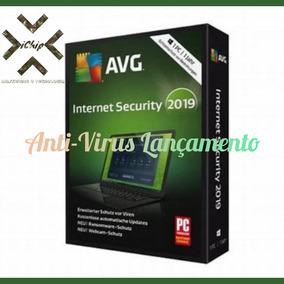 Avg Anti-virus 2019 Internet Security Para 5 Pcs + Suporte