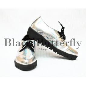 Zapato Choclo Pixie Tornasol Moda Pastelgoth Nugoth Hologram 4bba323ebf0