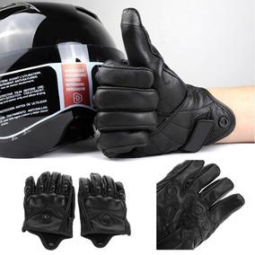 Luva Para Motociclista Couro Icon P/ Motos Bike Protetor Mão