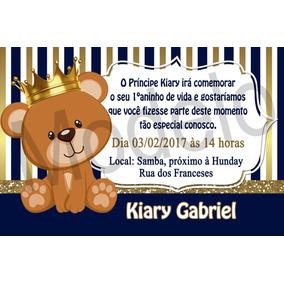 Convite Urso Principe Azul E Dourado Ar Livre Malabares E Festas