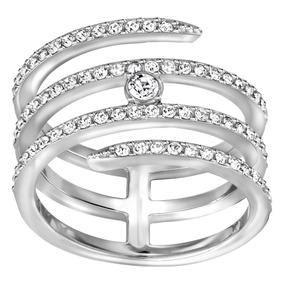 e9060ac04e2aa Anel Prata Com Pedra Swarovski - Anéis com o melhor preço no Mercado ...