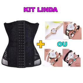 Kit Linda Cinta Modeladora + 2 Lindos Relógios Com Pulseira