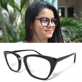 Armação Oculos Grau Feminino De Luxo Original Acetato Df611 11b18e7db4