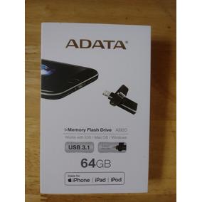Pendrive Adata Otg 64 Gb 3.1 Iphone, Ipod Ipad Pc 150mb/s