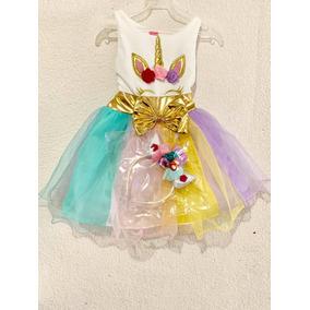 Vestido Unicornio Diadema Y Envío Gratis