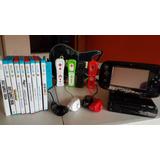 Wii U + 8 Juegos + 4 Controles + 4 Nunchuck + Guitarra