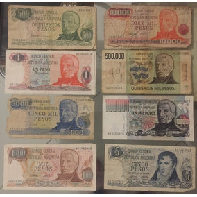 Lote 8 Billetes Antiguos Argentinos
