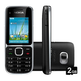 Nokia C2-01 3g, 3.2mp, Bluetooth, Radio Fm, Mp3 - Novo