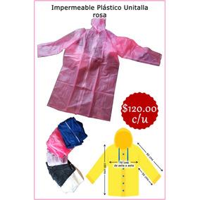 Impermeable Unitalla Color Rosa Nuevo Pvc