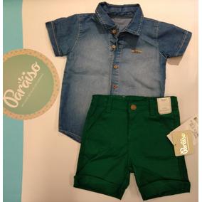 Conjunto Bebê Paraíso Infantil Menino Criança Jeans 187 af8a162b6cfd5