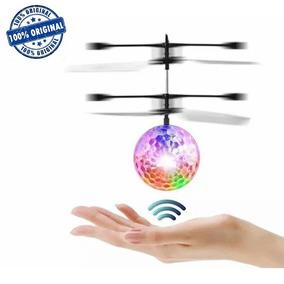 Bolinha Voadora De Led Com Sensor Mini Drone Helicóptero