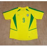 Gcr39 Camisa Oficial Brasil Copa 2002  9 Ronaldo G 74x59 c8a6e35920331