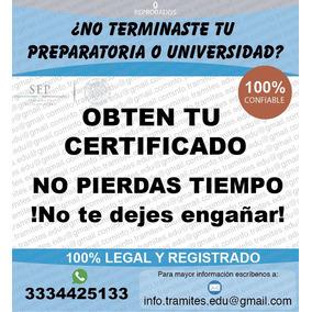 Títulos, Certificado Preparatoria, No Lo Dejes Padar